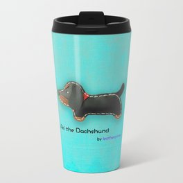 Aki the Dachshund by leatherprince Travel Mug