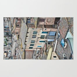 Italian City Living - Architectural View Rug