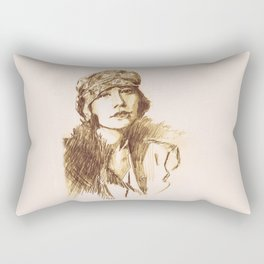 Flapper Actress Rectangular Pillow