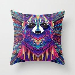Colorful fox Throw Pillow