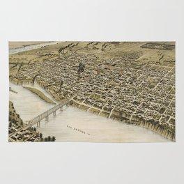 Vintage Pictorial Map of Laredo Texas (1892) Rug