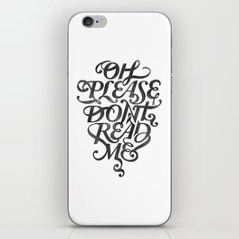Please Don't (white version) iPhone Skin