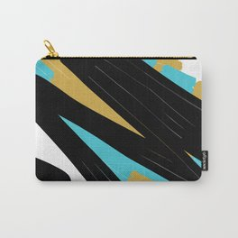 Black Gold & Blue Carry-All Pouch