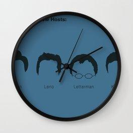 Latenight Talkshow Hosts - O'Brien Leno Letterman Kimmel Wall Clock