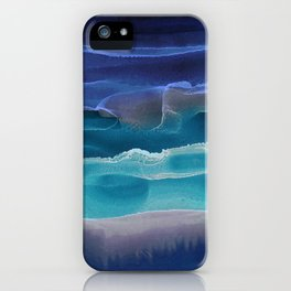 Alcohol Ink Seascape 3 - Sea at Night iPhone Case