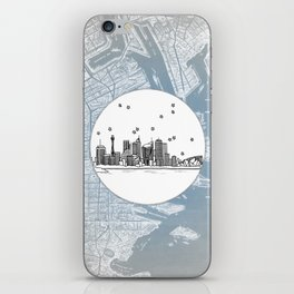 Sydney, New South Wales, Australia City Skyline Illustration Drawing iPhone Skin