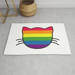 LGBT Rainbow Flag Cat Rug