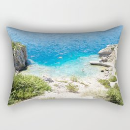Swimming in the Cove Rectangular Pillow
