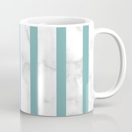 marble vertical stripe pattern turquoise Coffee Mug