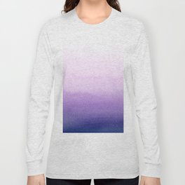 Purple Watercolor Design Long Sleeve T-shirt