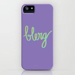 Blerg iPhone Case