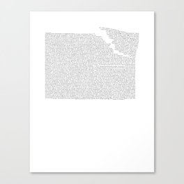 Erosion & Typography 2 Canvas Print