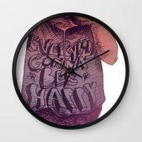 bruno mars Wall Clocks featuring Bruno by Arthur d'Araujo