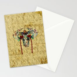 Watercolor Punisher Bat Stationery Cards