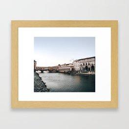 Ponte Vecchio in Florence Gerahmter Kunstdruck