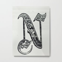 Typography Design Metal Print