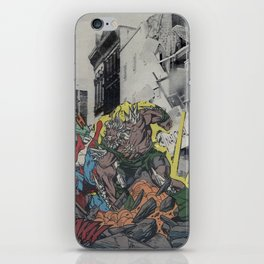 It's Doomsday, Doomsday! - Vintage Collage iPhone Skin