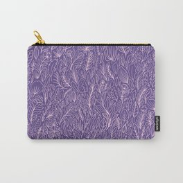 Floral Ultraviolet Carry-All Pouch