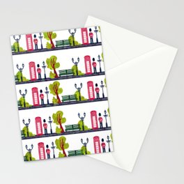 Phone Booth and Guard Pattern Stationery Cards