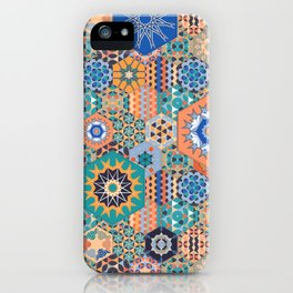 Hexagons Tiles (Colorful) iPhone Case