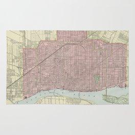 Vintage Map of Detroit Michigan (1901) Rug