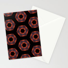 Fiery Red & Orange Circles Stationery Cards
