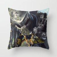 predator Throw Pillows featuring Predator by Patricia Lull