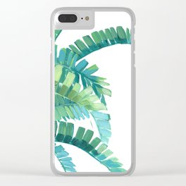 Banana Palm Clear iPhone Case