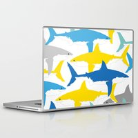 sharks Laptop & iPad Skins featuring Sharks  by BRITADESIGNS