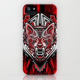 Wolf Tattoo Style Haida Art iPhone Case