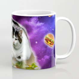 hamburger cat king Spece cosmos pornfood food fast food crazy cat Coffee Mug