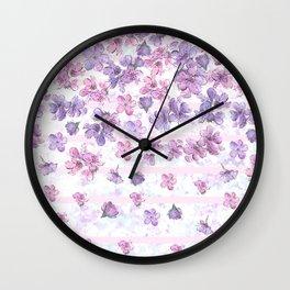 Make It Rain Flowers Wall Clock