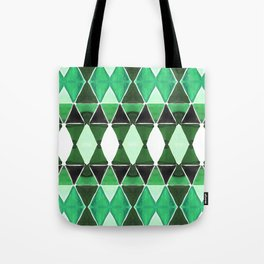 Art Deco Triangles Green Tote Bag