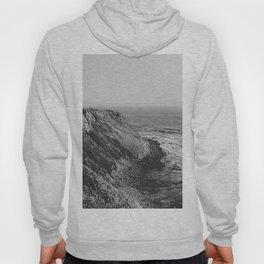 Point Vicente - California Coast - Black & White Version Hoody