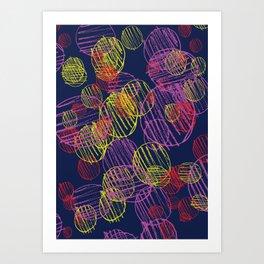 pencil circles Art Print