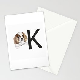 K is for King Charles Cavalier Stationery Cards