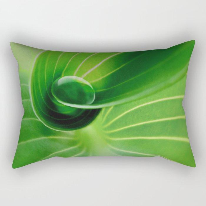 Leaf / Hosta with Drop (2) Rectangular Pillow