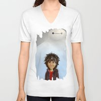 big hero 6 V-neck T-shirts featuring Big Hero 6 by MikakoskArts