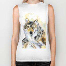 Totem Grey wolf Biker Tank