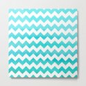 Aqua Blue chevron ZigZag Herringbone - watercolor on white pattern #Society6 by simplicity_of_live
