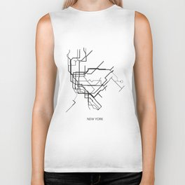 New York Subway Map Print New York Metro Map Poster,Subway Map Print,Metro Map Poster Biker Tank