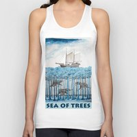 peanuts Tank Tops featuring Sea of Trees by Condor