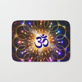 """The higher power of Om"" - sacred geometry Bath Mat"