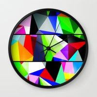 trip Wall Clocks featuring Trip by Shaun Drew