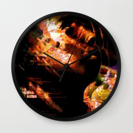 """Distorted Profile"" Wall Clock"