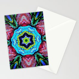 Tulip Mosaic Abstract Stationery Cards