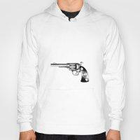 gun Hoodies featuring Gun by nohholmez