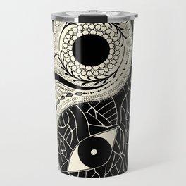 - yin & yang - [collaborative art with famenxt] Travel Mug