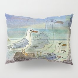 The Seagull and the Lighthouse Pillow Sham