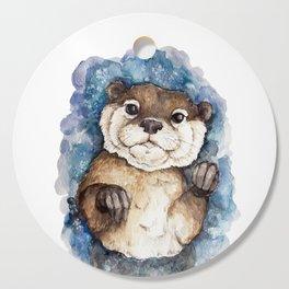 Watercolor Otter Cutting Board